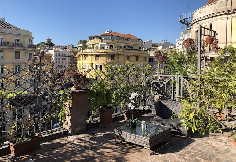 Giuturna Boutique Hotel, Rome, Terrasse/Patio