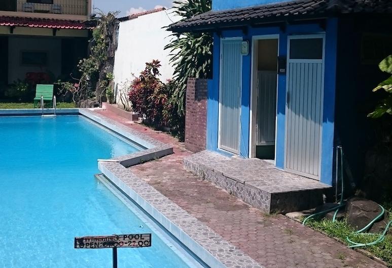 Metro Guest House, Yogyakarta, Piscine en plein air