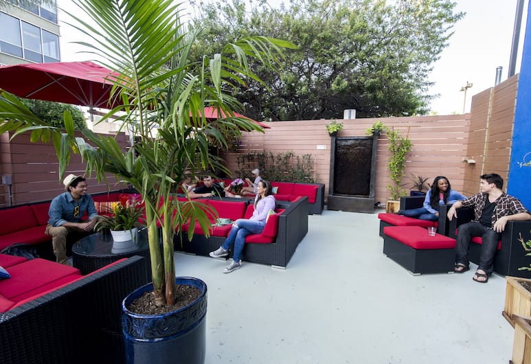 USA Hostels Hollywood, Los Angeles, Terasa