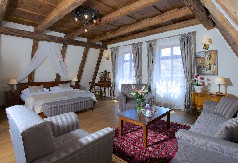 Residence U Mecenáše, Praha, Luxusní ateliérové apartmá, 3 ložnice, Pokoj