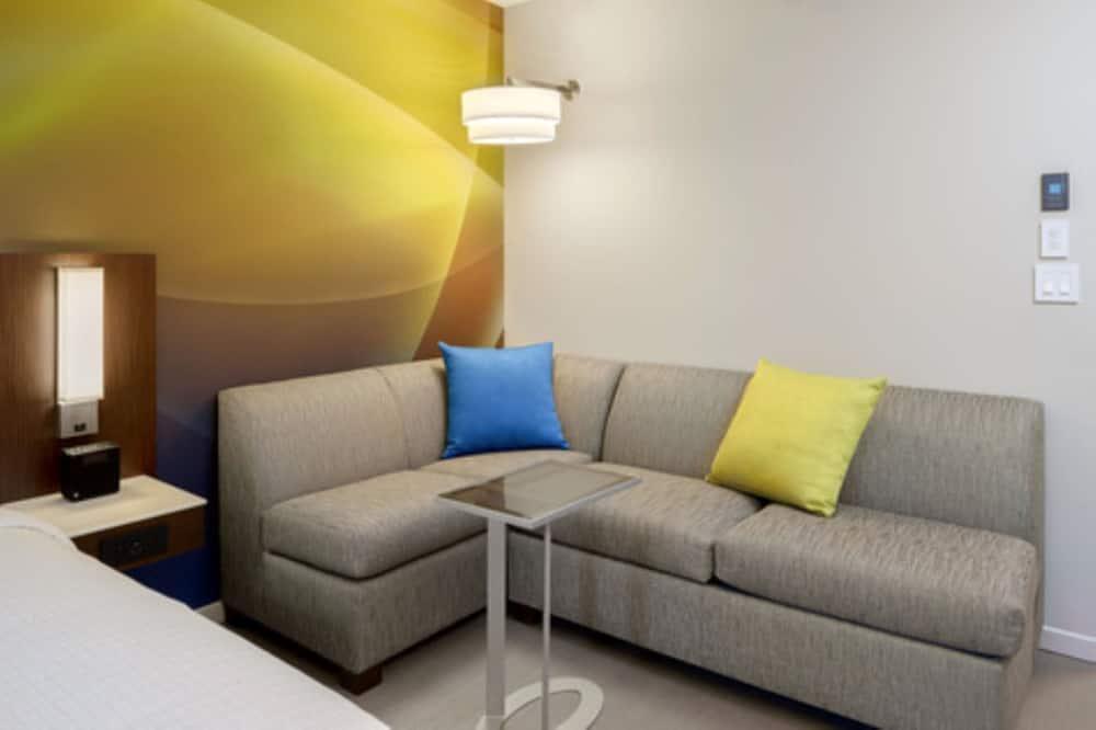 Номер, 1 ліжко «кінг-сайз» та розкладний диван, обладнано для інвалідів (Metro, Hearing/Visual) - Вітальня