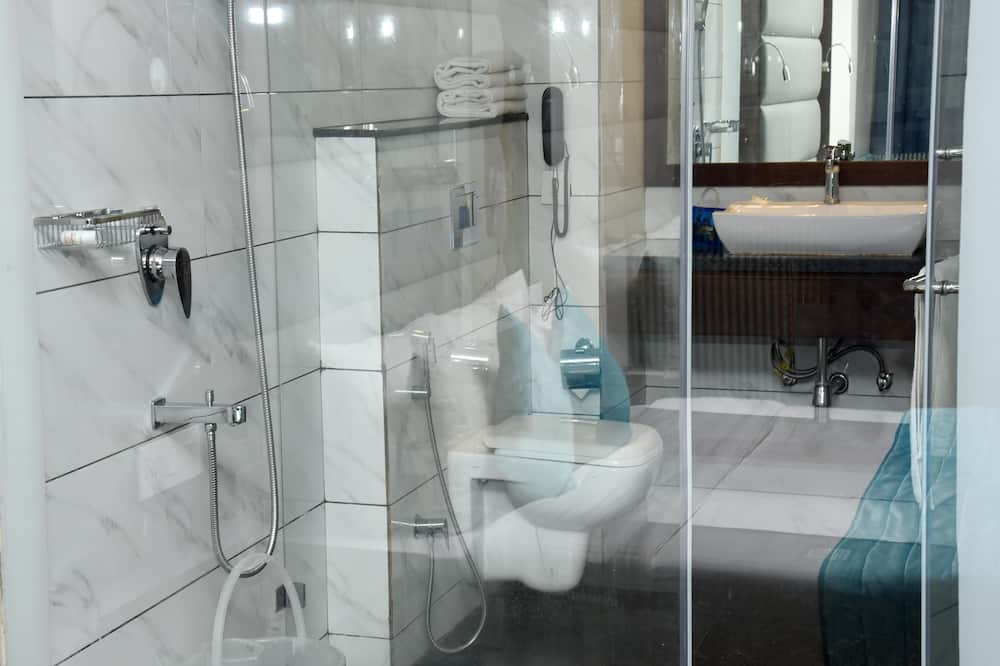 Standartinio tipo kambarys (1 dvigulė / 2 viengulės lovos), 1 standartinė dvigulė lova - Vonios kambarys