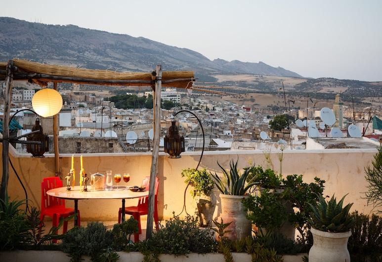 Riad Idrissy, Fes, Área para refeição ao ar livre