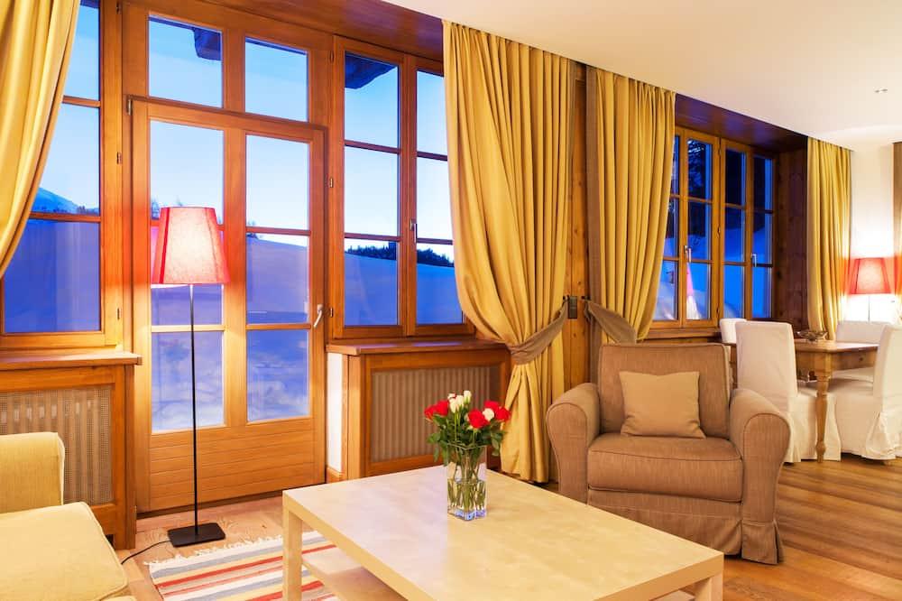 Departamento Deluxe, 1 habitación, balcón - Sala de estar