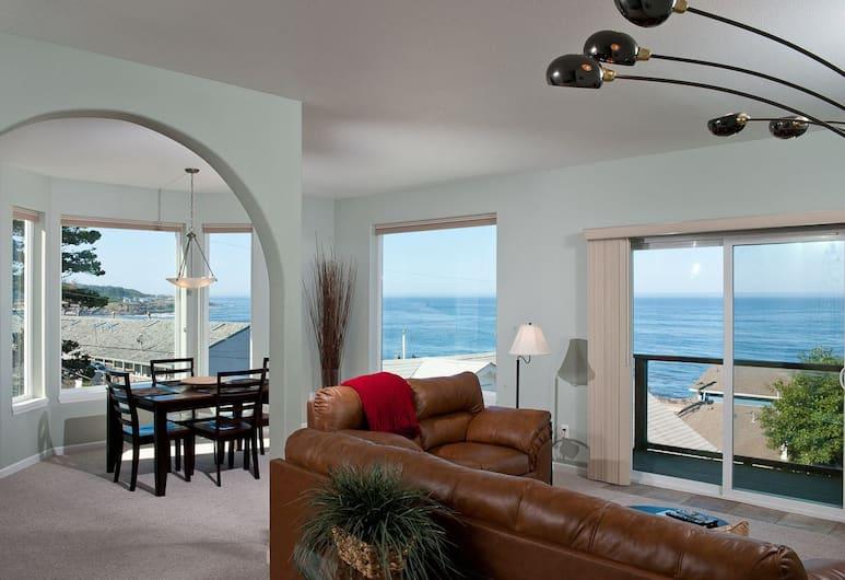 Keystone Vacation Rentals-Ocean View Condos, Depoe Bay, Kondominium Premium, 2 kamar tidur, dapur, pemandangan samudra (Snuggle Inn), Area Keluarga