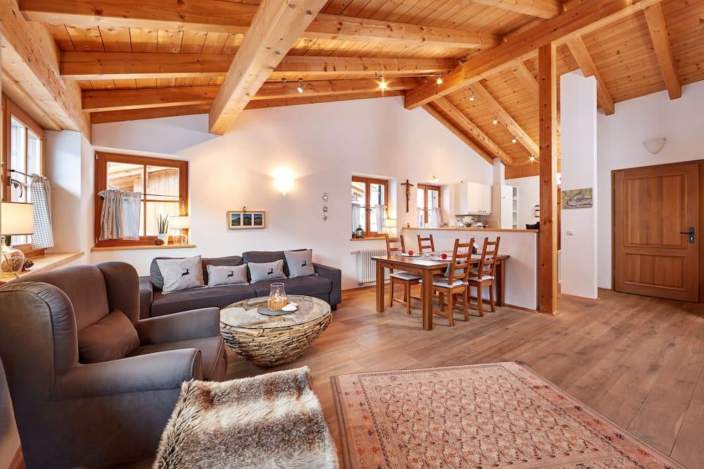 شقة بانوراما - غرفة نوم واحدة - بمفروشات غير مسببة للحساسية - منظر للجبل - منطقة المعيشة
