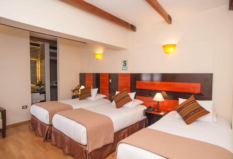 Estancia San Blas, Cusco, Quarto Triplo Superior, 3 camas individuais, Quarto