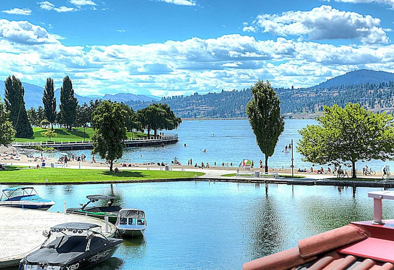 Discovery Bay by KelownaGo, Kelowna, Premium Condo, 3 Bedrooms, Partial Lake View, View from room