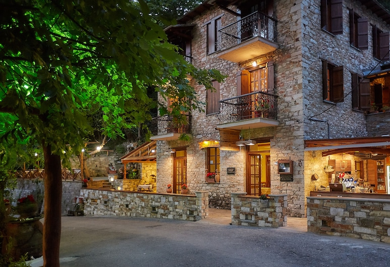 Palios Stathmos, South Pelion, Hotel Front – Evening/Night