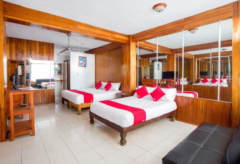 OYO Hotel Suites Tropicana Ixtapa, Ixtapa, Habitación superior, Varias camas, Habitación