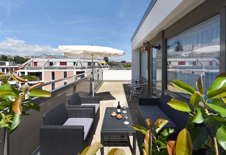 Home Swiss Hotel, Ginebra, Departamento, terraza, Terraza o patio