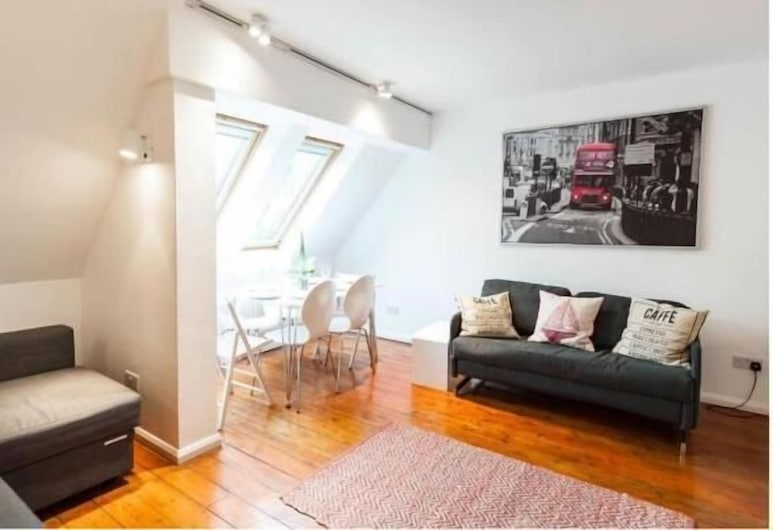 White City one bed Apartment, London, Apartment, mit Bad, Stadtblick (White City), Hotellounge