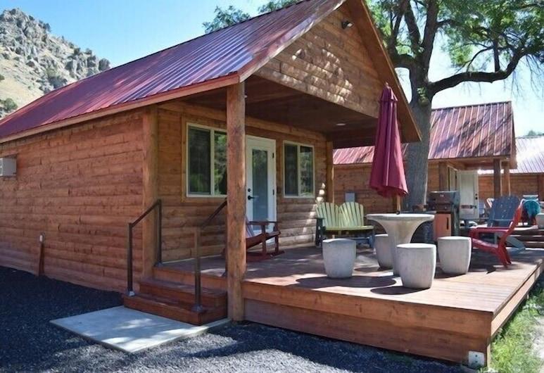 Lava Hot Springs KOA, Lava Hot Springs, Cabaña Deluxe, Terraza o patio