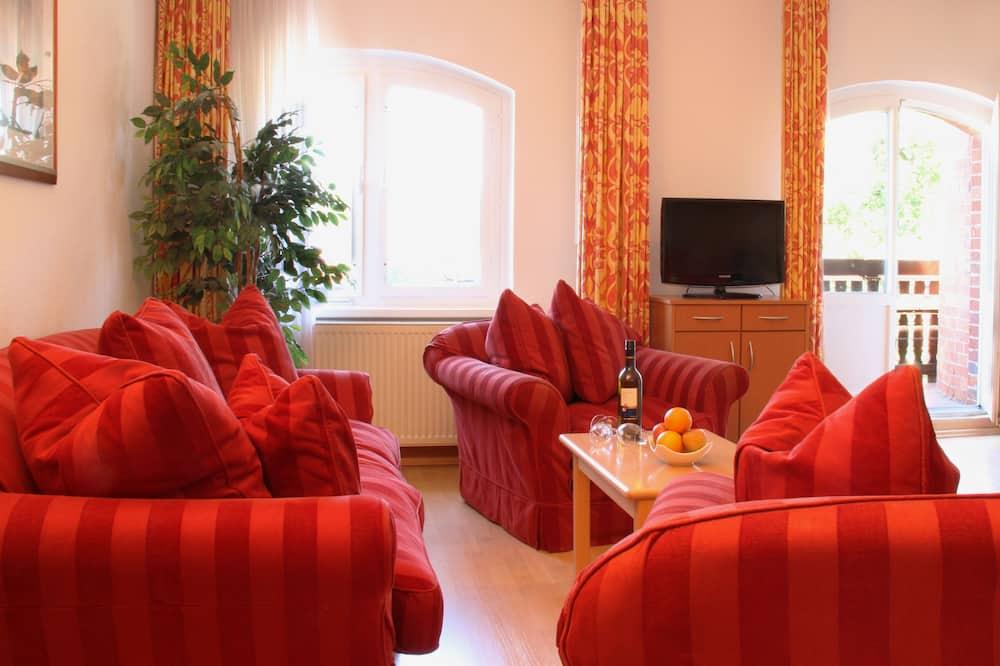 Apartamento Familiar, 1 cama de casal com sofá-cama, Kitchenette - Área de Estar