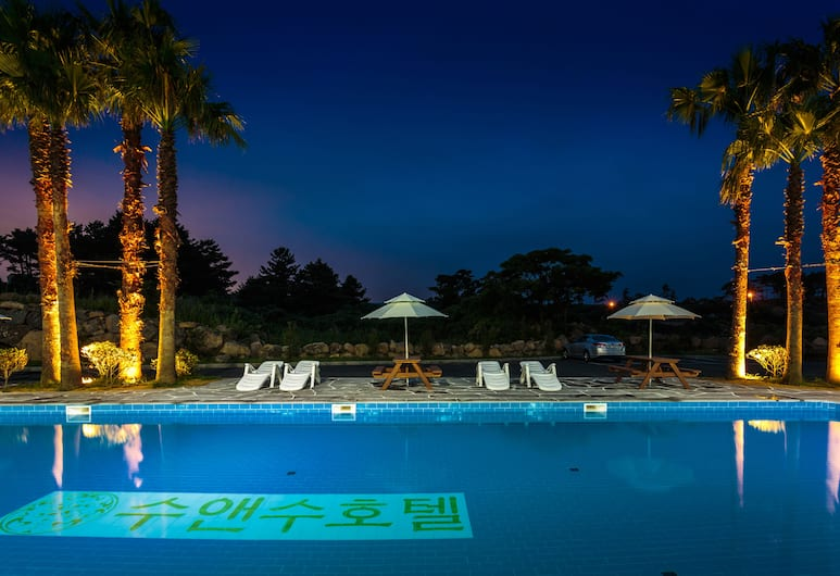珊蘇酒店, Jeju City, 室外泳池