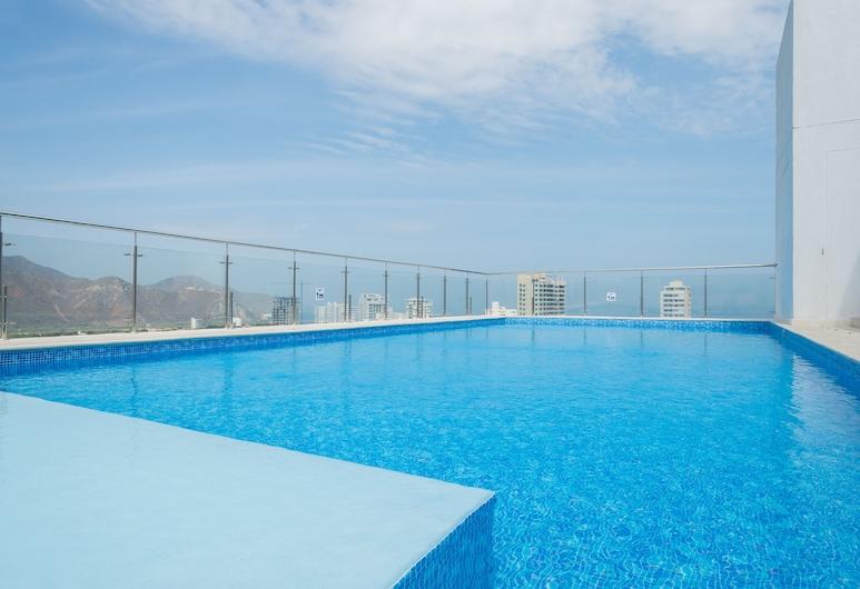 Best Western Plus Santa Marta Hotel, Santa Marta, สระว่ายน้ำกลางแจ้ง
