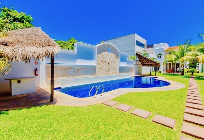 Dolce Vita Caribe B&B, Playa del Carmen, Premium villa, 4 magamistoaga, köögiga, vaade basseinile, Vaade toast