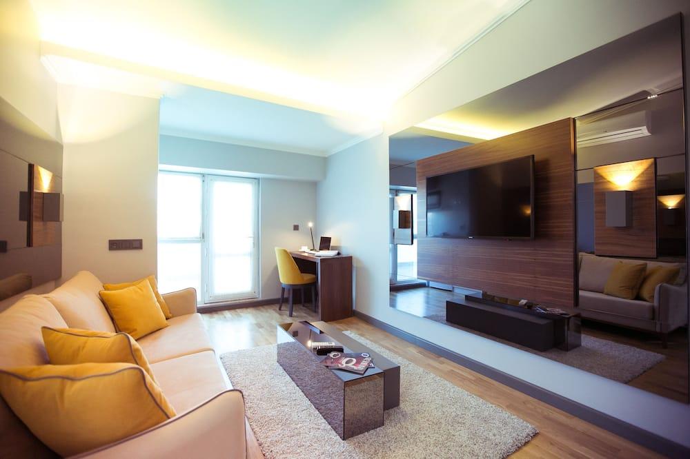 סוויטה משפחתית, 2 חדרי שינה, טרסה - סלון