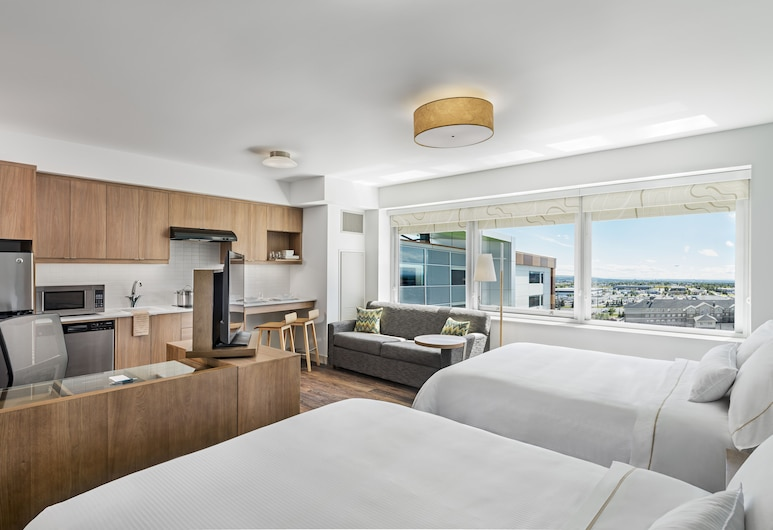 Element by Westin Calgary Airport, Calgary, Studio, 2 Queen Beds, Guest Room