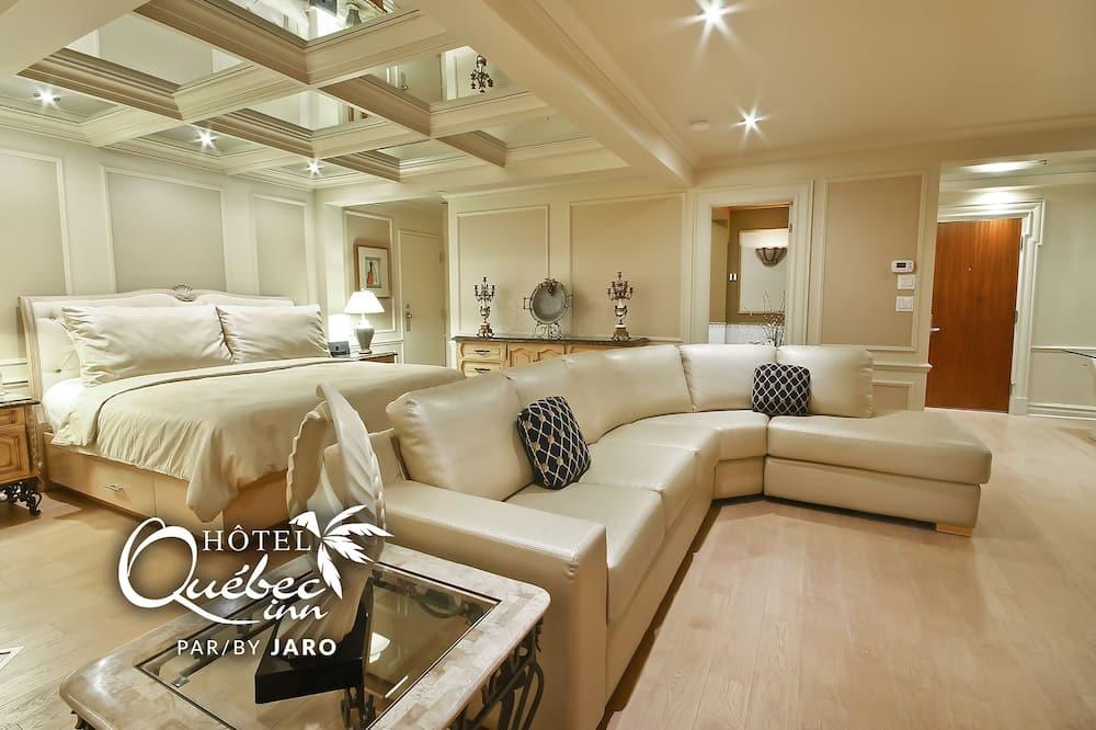 Люкс, 1 двуспальная кровать «Кинг-сайз» с диваном-кроватью - Номер
