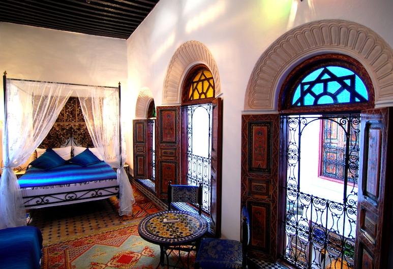 Dar Hafsa, Fes, Quarto triplo, Interior do hotel