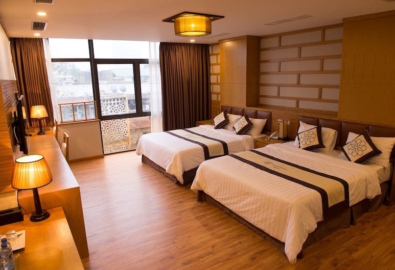 Sinh Plaza Hotel, Hanoi, Room, 2 Queen Beds, City View, Guest Room