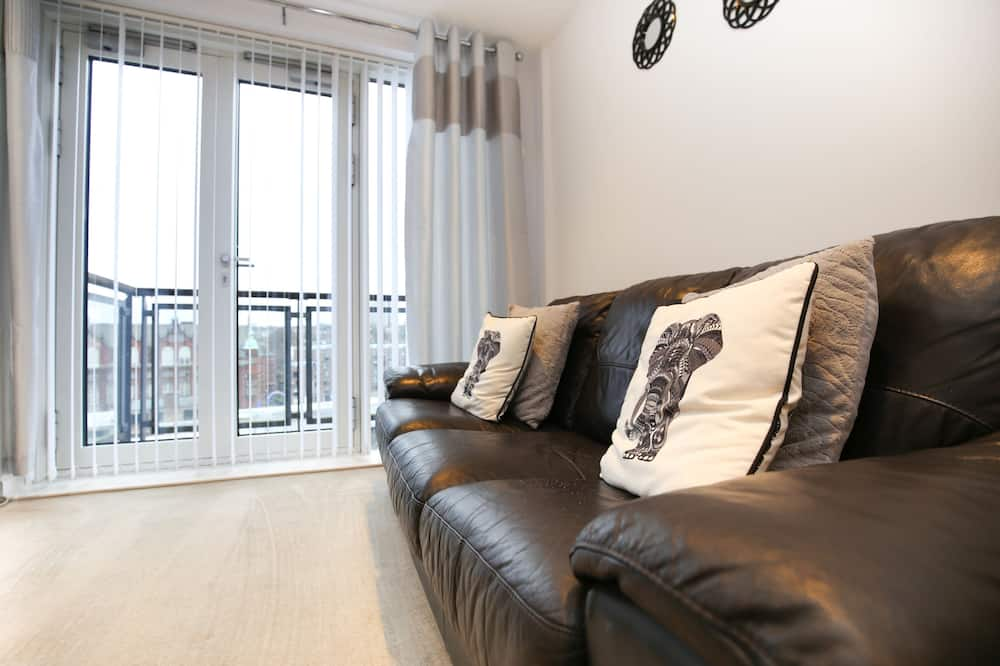 Luxury Apartment, 2 Bedrooms, 2 Bathrooms - Living Area