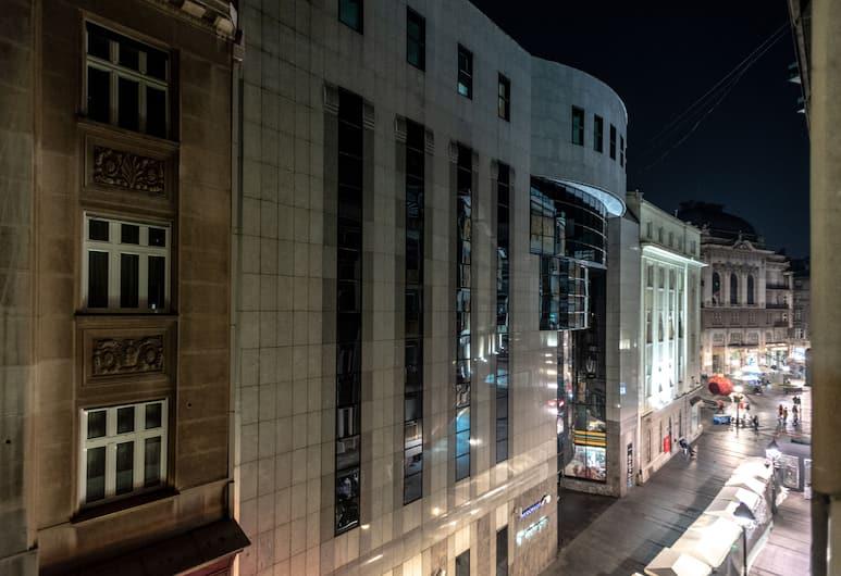 One Luxury Suites, Belgrad, Deluxe-Doppelzimmer, 1King-Bett, Stadtblick, Ausblick vom Zimmer