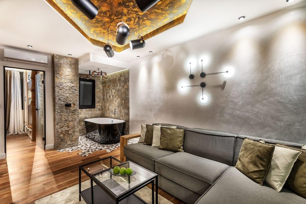 Luxury Apart Daire, 1 En Büyük (King) Boy Yatak ve Çekyat - Oturma Alanı
