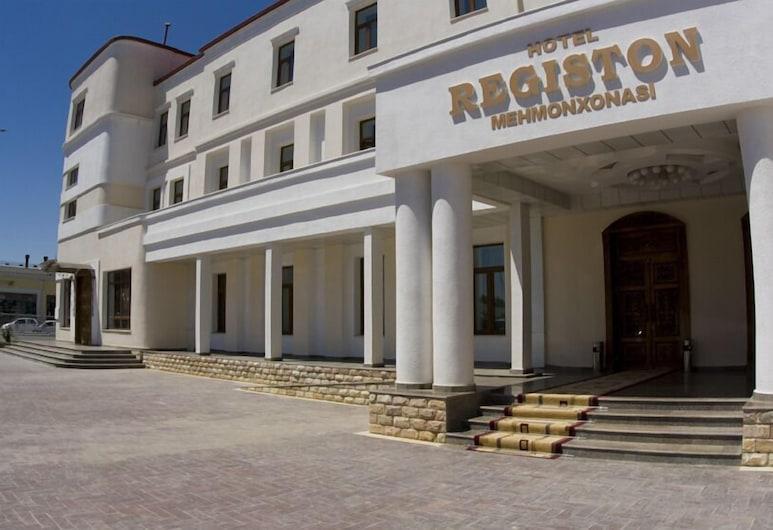 Registon Hotel, Samarkandas, Įėjimas į viešbutį