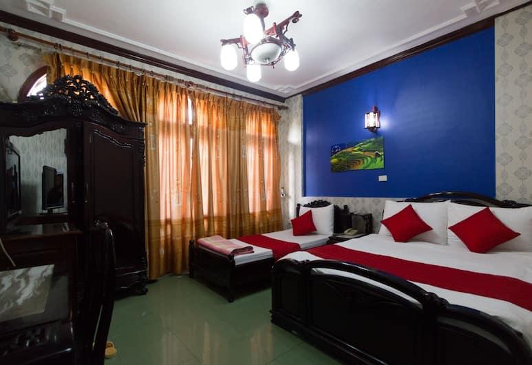 Hanoi Panda Hotel, Hanoi, Tremannsrom (1 double bed + 1 single bed), Gjesterom