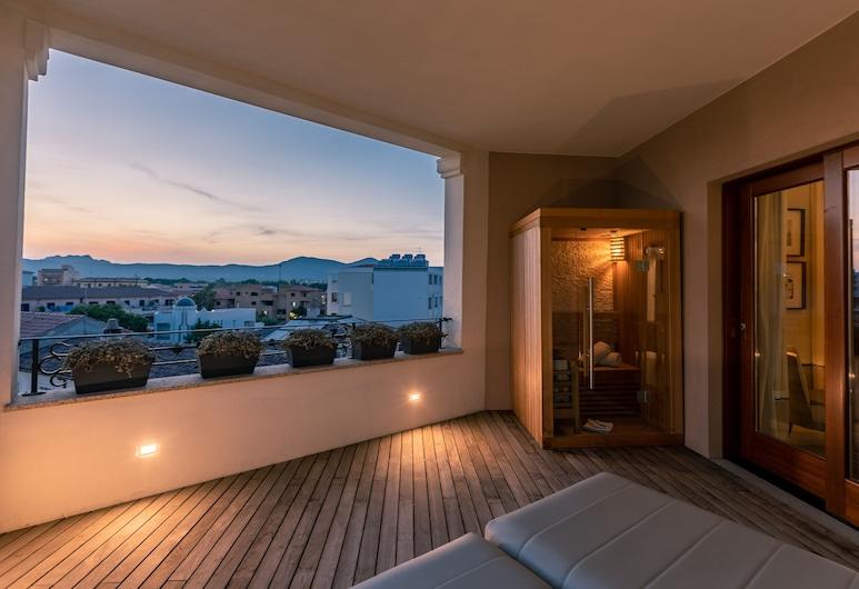 La Locanda del Conte Mameli, Olbia, Luxury-Suite, 1 Queen-Bett, Ausblick vom Zimmer