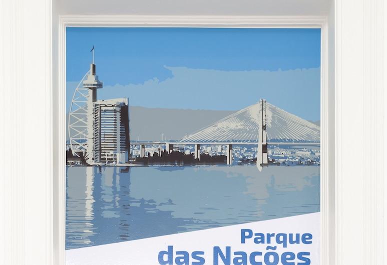 New Lisbon Concept Hostel, Lisboa, Felles sovesal, for menn og kvinner, delt bad (Parque das Nações - Max. 6 people), Gjesterom