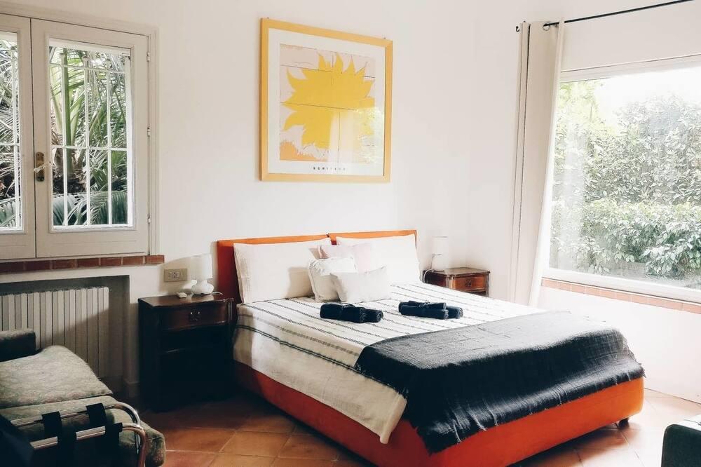 Comfort háromágyas szoba, 2 hálószobával, privát fürdőszoba, kerti - Kilátás a kertre
