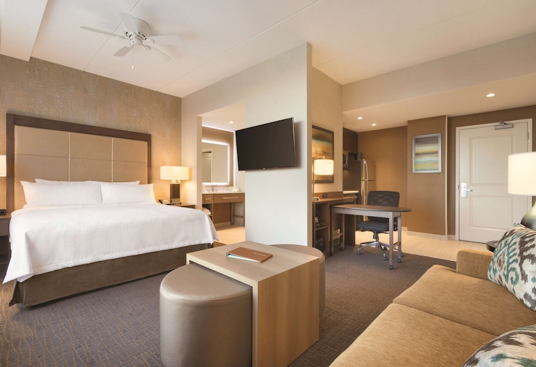 Homewood Suites by Hilton Calgary Downtown, Calgary, Studio Suite, 1 King Bed, Non Smoking, Guest Room