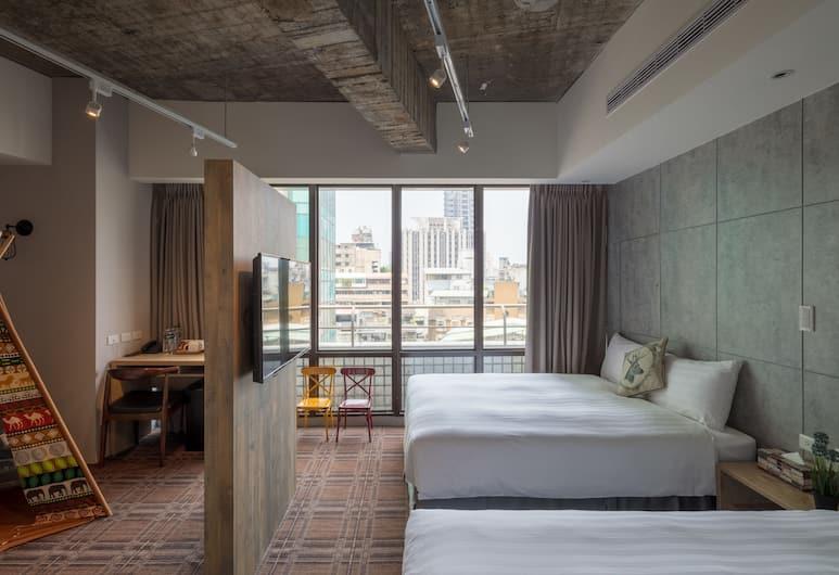 Roaders Hotel, Taipei, Executive driepersoonskamer, 1 slaapkamer, Bad, in toren, Kamer