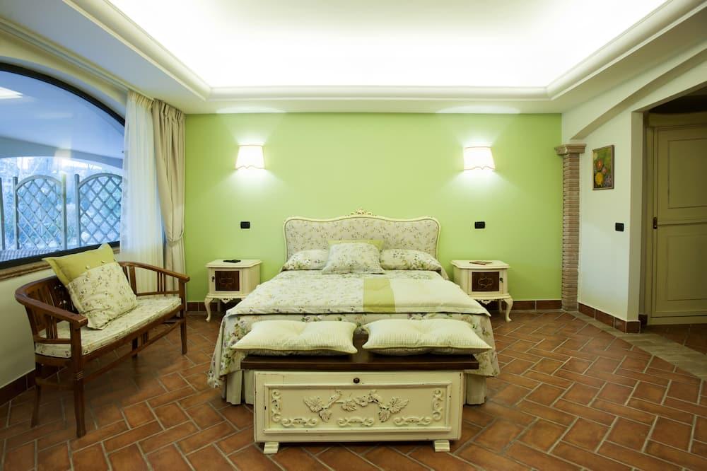 Deluxe tweepersoonskamer, 1 kingsize bed, Toegankelijk voor mindervaliden, uitzicht op park - Badkamer