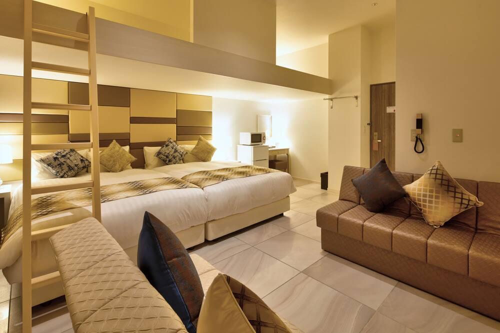 家庭雙床房, 非吸煙房 (2DBL Beds w/loft, 3rd person Extrabed) - 客房