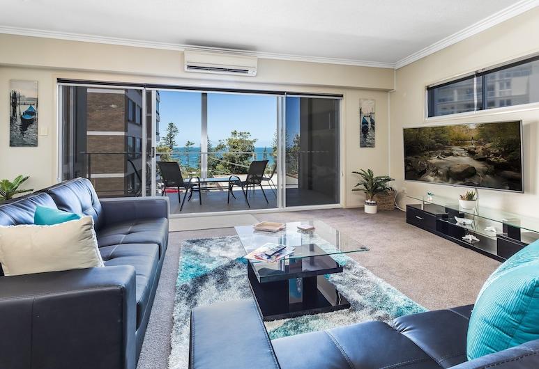 Sutton Beach Apartments, Redcliffe, Familjelägenhet, Vardagsrum