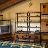 Apartamentai, 1 miegamasis, vaizdas į kalnus - Svetainė