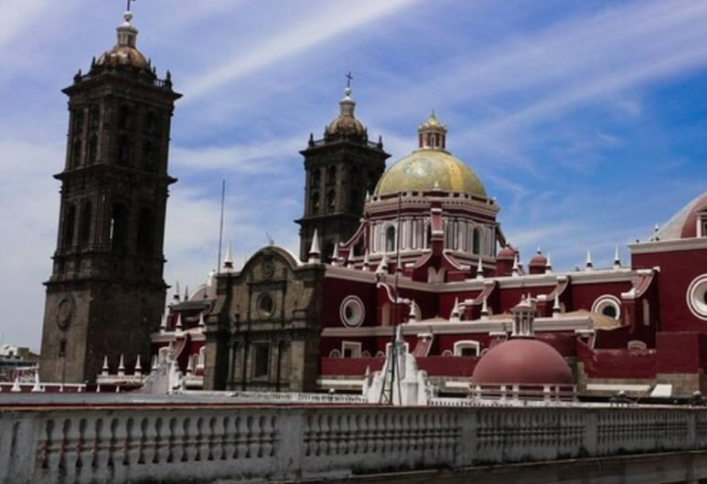 Hotel Leones, Puebla, Hotelgelände