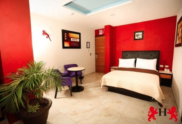 Hotel Leones, Puebla, Quarto Standard, 1 cama queen-size, Quarto
