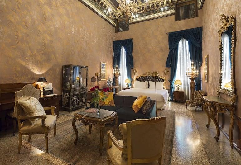 Palazzo Venart Luxury Hotel, Venedig, Lyxsvit, Gästrum