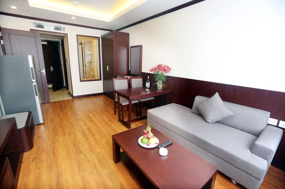 Family Room with City View - Living Room