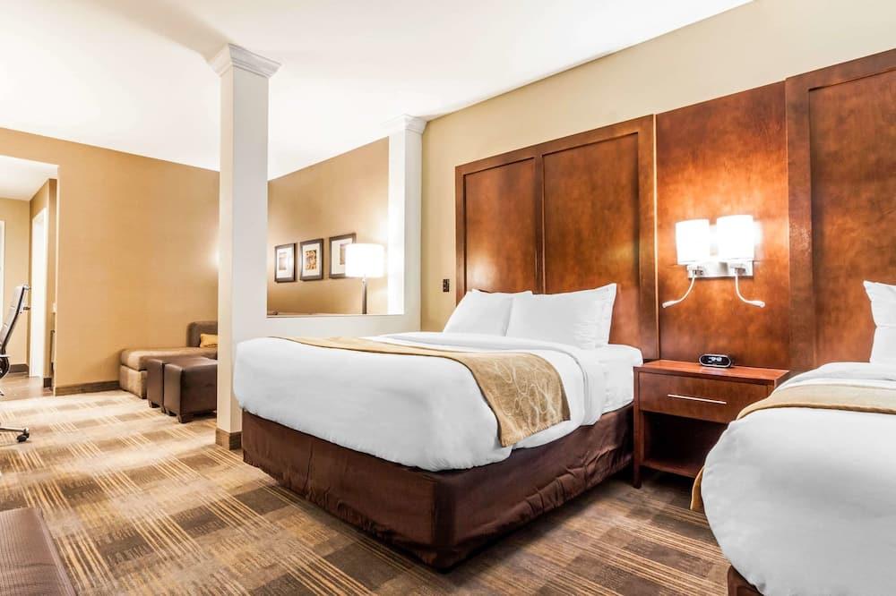 套房, 1 張特大雙人床及 1 張梳化床, 無障礙, 非吸煙房 - 客房