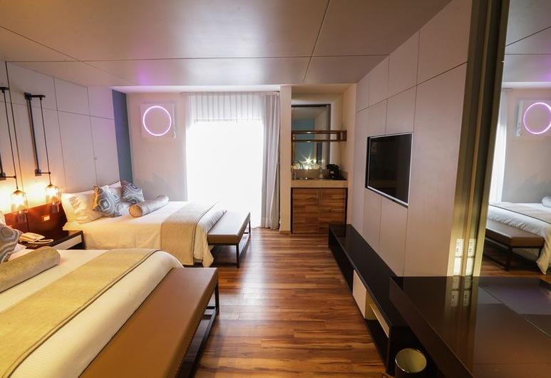 Hotel Alesia Boutique, Aguascalientes, Deluxe Δίκλινο Δωμάτιο (Double), Δωμάτιο επισκεπτών