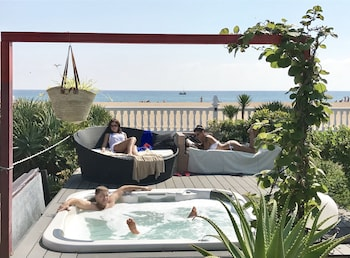 Picture of LUX Beach House Barcelona with pool & jacuzzi, beach access in Malgrat de Mar
