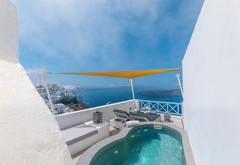 Blue Dolphins Apartments & Suites, Santorini, Honeymoon Suite, Jetted Tub, Guest Room