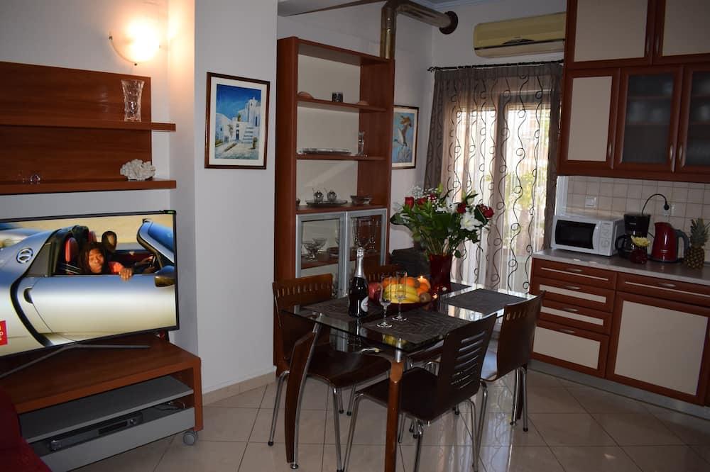Apartmán typu Deluxe, terasa, výhľad na mesto - Stravovanie v izbe