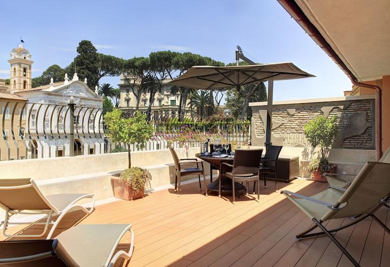 호텔 델리 아르티스티, 로마, 프리미어 스위트 (Sky Suite), 테라스/파티오